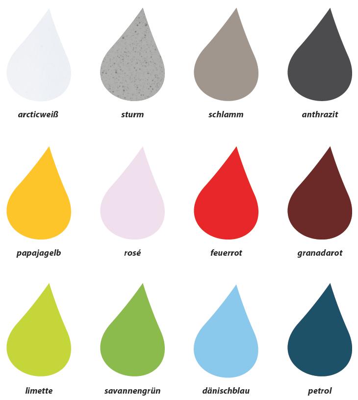 Farbpalette Für Wandsäule